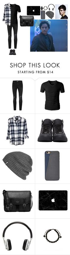 """""""Riverdale: Jughead Jones"""" by dreamity ❤ liked on Polyvore featuring Topman, Rails, Jimmy Choo, Outdoor Research, FOSSIL, Michael Kors, Master & Dynamic, Link Up, Emporio Armani and men's fashion"""