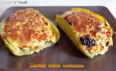 zucchine ripiene light e vegetariane cotte in padella