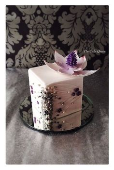 Pink Lotus and Beaded   Cake ~ all edible