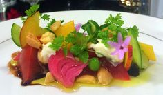 "HEIRLOOM TOMATO ""AGRODOLCE"" Celery Root, Wild Fennel, Balsamico ""Caviar"" Heirloom Tomatoes, Fennel, Caviar, Celery, Food Art"