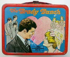 $84.95 Vintage King-Seeley Thermos Brand Brady Bunch Metal Lunchbox Lunch Box 1970