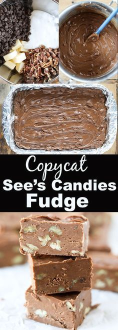 This Copycat Sees Fudge is so delicious and extremely easy to make. Sees Candies is definitely a Christmas favorite around our house and everyone loves their fudge! This recipe makes an entire 913 pan of delicious fudge so its perfect for gift giving. Yummy Treats, Sweet Treats, Yummy Food, Holiday Baking, Christmas Baking, Köstliche Desserts, Dessert Recipes, Brownie Desserts, Plated Desserts