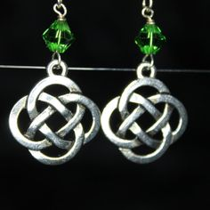 Celtic Knot Earrings by CraftySquirrelDesign on Etsy