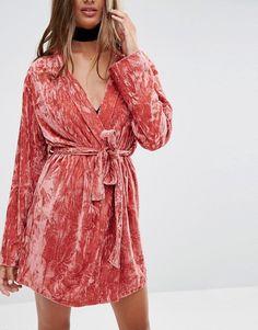 ASOS | ASOS Crushed Velvet Mini Robe