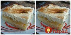 Balkánska jablkový koláč – torta na plechu: Tá piškóta je jemná ako vata, používam ju aj na zákusky a torty! Cake Cookies, Vanilla Cake, Sweet Recipes, Tiramisu, Cheesecake, Food And Drink, Pudding, Sweets, Baking
