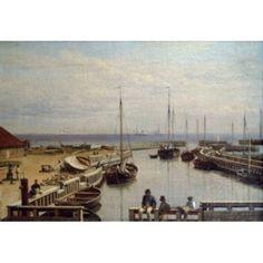 Leport De Dragor by Christoffer W Eckersberg painted image (1783-1853) Canvas Art - Christoffer W Eckersberg (24 x 36)