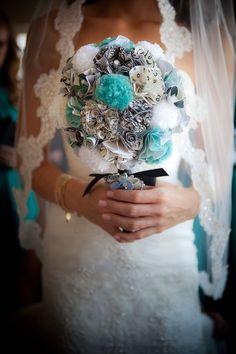handmade paper bouquet i made for my wedding :)