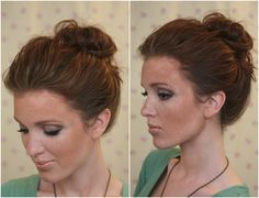The Freckled Fox: 'The Basics' Hair Week, Tutorial #4: The 10 Sec Top-knot