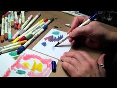 Tim Holtz Creative Director for Ranger, shows new techniques and ideas about coloring with Distress Markers.