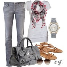 summer outfits Grey Jeans