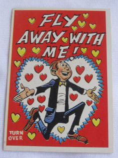 Unique  vintage Valentines Day Card 1960 4a topps by roseluv, $4.25