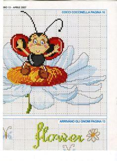 Lady bug cross stitch