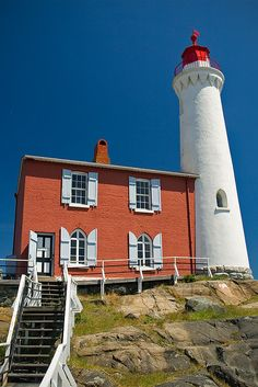 Fisgard Lighthouse	Colwood 	Vancouver Island 	British Columbia 	Canada 	48.430400, -123.447600  by mgermani, via Flickr