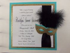 Sweet 16 Masquerade Invitation by Occasions2remember on Etsy