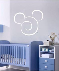 Mickey Mouse blue room..