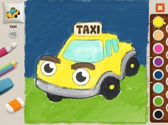"""Taxi"" #memollow #painting #kids #kitty #cat #coloring"