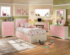 Perfect Tween Girls Bedroom Ideas for Your Kids: Sweet Color Teen Girls Bedroom Ideas Cream Rug Kids Desk With Computer ~ mybutteryfly.com Bedroom Inspiration