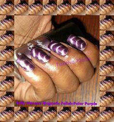 My magnetic nails #purple #nails #allday #magnetic #polish  #sallyhansen