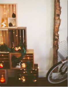 case e interni - decorazioni natalizie fai da te - diy - albero alternativo 2