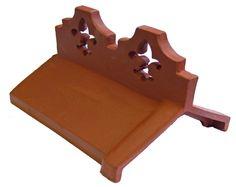 Decorative Ridge Tiles Tejas Borja Tamizado Cream Escama Roof Tile #roof Tile #decor