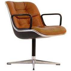 "Rare Pollock Chair ""12A1"" by Knoll, 1965"