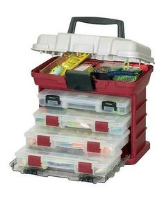 Plano Fishing Tackle Box Bag Four Tray Gear Bait Storage Carying Organizer Case