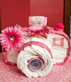 cakes - camera as a diaper gift - a piece of Kre design . Diaper cakes - camera as a diaper gift - a piece of Kre design .,Diaper cakes - camera as a diaper gift - a piece of Kre design . Regalo Baby Shower, Deco Baby Shower, Baby Shower Diapers, Baby Shower Cakes, Baby Shower Gifts, Baby Gifts, Baby Showers, Diaper Crafts, Newborn Diapers