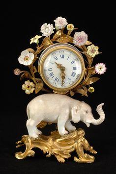 Meissen porcelain clock.