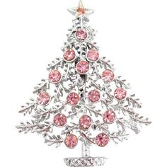 What Type of Christmas Ornaments Do You Collect Jewelry Christmas Tree, Pink Christmas Tree, Jewelry Tree, Vintage Christmas, Christmas Ornaments, Xmas, Pink Love, Pretty In Pink, I Believe In Pink