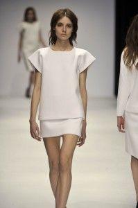 Tze Goh, a Singapore-born designer produced a pristine, all-white womenswear collection illustrative of this significant shift.