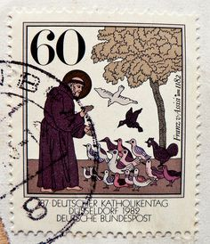 stamp germany 60pf. holy Saint Franz von Assisi 1182