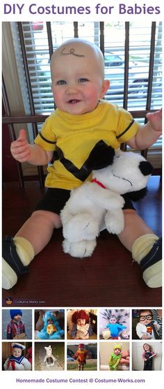 Charlie Brown!! HILARIOUS!!!Homemade Costumes for Babies - a lot of DIY costume ideas!