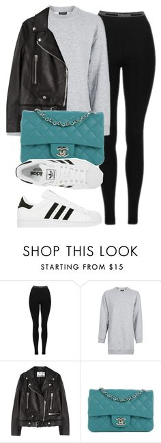 """""""Untitled #11797"""" by vany-alvarado ❤ liked on Polyvore featuring Topshop, Acne Studios, Chanel and adidas"""