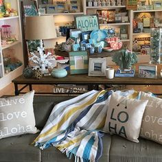 Lots of New Coastal Home Interior Decor. Stop in and get inspired with all our new home accents.Pillows, throw blankets, lamps, frames, pictures, candles and all your decor needs. #sandpeoplehaleiwa #home #coastaldecor #interiordesign #beach.