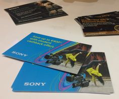Marketing collateral in business card format for Professional Sony Europe at IBC Poster Prints, Posters, Business Cards, Sony, Europe, Student, Marketing, Lipsense Business Cards, Poster
