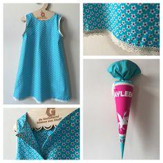 Kleid in A-Form passend zur Schultüte