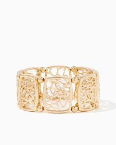 charming charlie | Floral Square Stretch Bracelet #charmingcharlie
