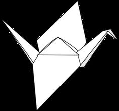Origami Crane clip art - vector clip art online, royalty free & public domain