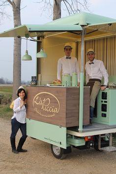 Kiosk Design, Cafe Design, Store Design, Food Cart Design, Food Truck Design, Coffee Food Truck, Mobile Food Cart, Mobile Coffee Shop, Bike Food
