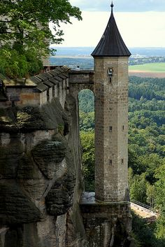 Konigstein Fortress, Germany - Been there you're looking at the prisoner tower in this shot.