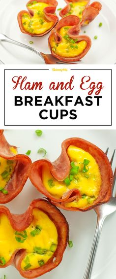 What a brilliant idea! So quick and easy! | Ham and Egg Breakfast Cups