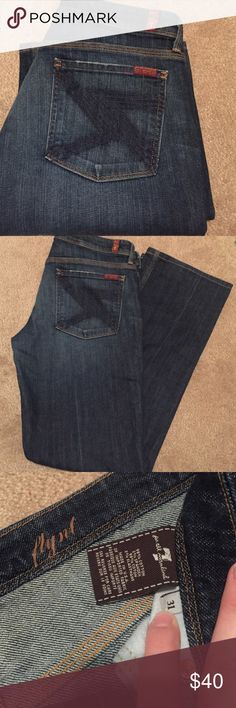 7 For All Mankind Flynt style jeans! Gorgeous pair of 7 For All Mankind Flynt style jeans! Minimal to no visible wear. Size 31. Inseam 30. Smoke free home! 7 For All Mankind Jeans Straight Leg
