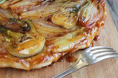 Tarte tatin d'oignons rouges et fenouils
