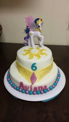 My Little Pony Princess Celestia birthday cake