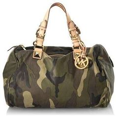Michael Kors Camo - Interesting Design #handbags #purses