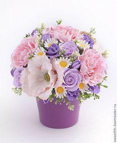 Экзотические Цветы, Цветочные Композиции, Красивые Цветы, Цветы Из Глины, Шёлковые Цветы, Весенние Цветы, Бумажные Цветы, Композиции Из Тропических Цветов, Фиолетовые Цветы