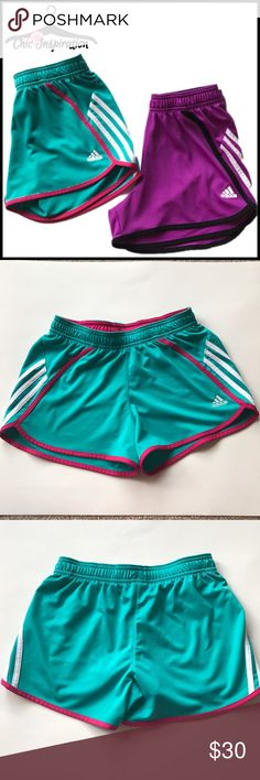 Adidas Athletic Shorts (2 pairs) 2 pairs of shorts. 100% polyester. Will sell the shorts separately. Adidas Shorts