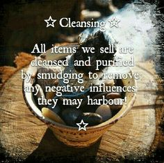 Besom Magic assures our customers that all sale items are cleansed before shipping!!   https://www.etsy.com/uk/shop/BesomMagic