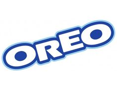 Oreo Font and Oreo Logo Brand Stickers, Diy Stickers, Laptop Stickers, Logo Stickers, Arte Monster High, Oreo, Blue Drawings, Wallpaper Stickers, Famous Logos