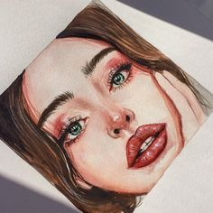 """""""I just finished this lip drawing. Painted with oil on canvas. - """"I just finished this lip drawing. Painted with oil on canvas. Hope … """"I just finished this l - Watercolor Face, Watercolor Portraits, Watercolor Paintings, Lips Painting, Painting Art, Art Drawings Sketches, Realistic Drawings, Cool Drawings, Lip Drawings"""